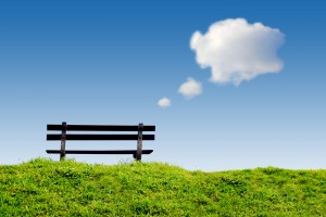 bigstock-bench-on-green-grass-with-conc-18391673