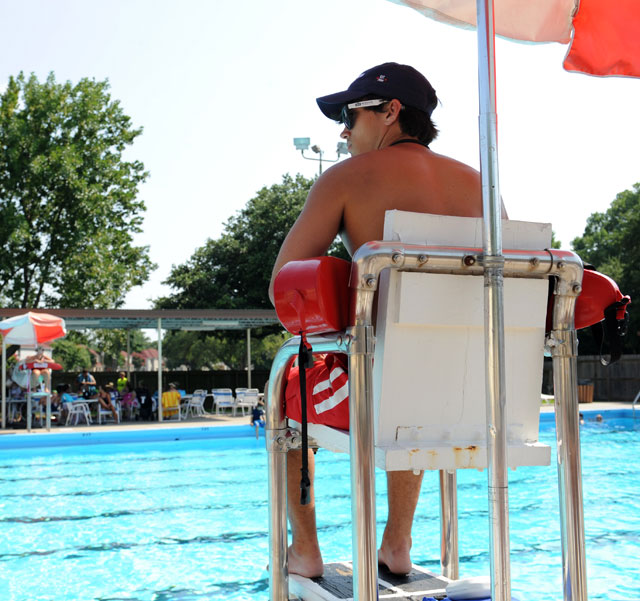 photo of lifeguard at a pool